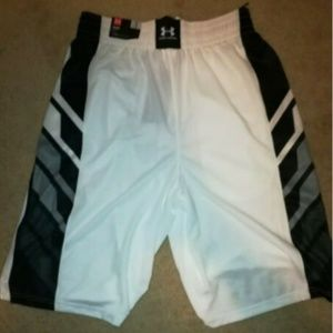 Under Armour Shorts - NWT Under Armour White Select Basketball Shorts